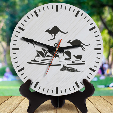 Australia Opera House Wooden Wall Clock