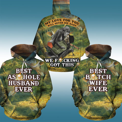 Image of Best Fishing Couple Hoodies - Y7