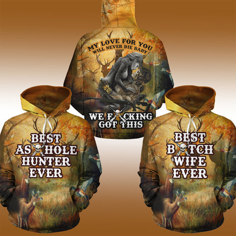 Image of Best Hunting Couple Hoodies - Y7