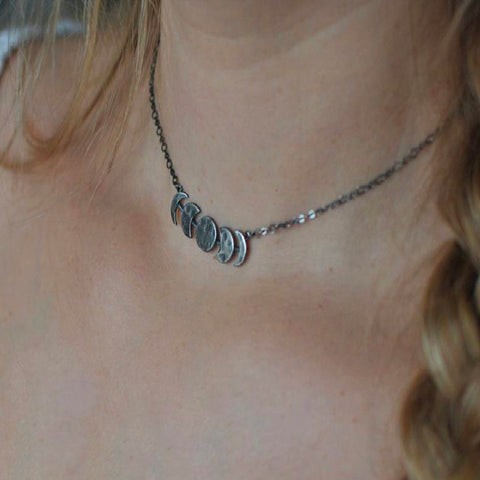 Image of Celestial Moon Phase Necklace