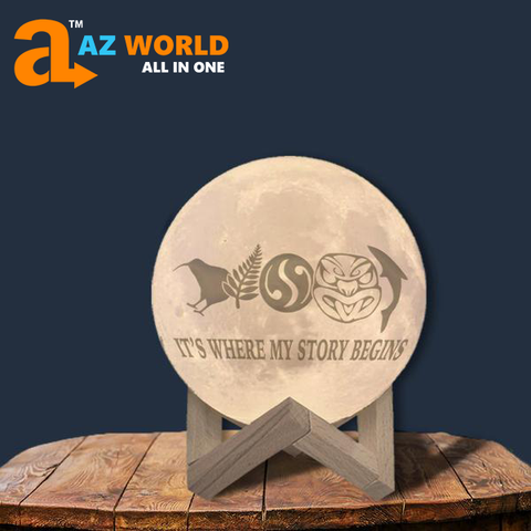 Image of New Zealand It's Where Story Begins Moon Lamp - Special Product