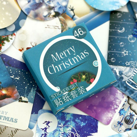 Image of 46/Box Merry Christmas Photo Sticker - T