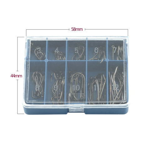 100 Pcs/Lot 3# -12# Carbon Steel Fishing Hook - T