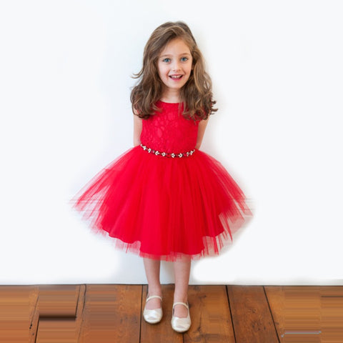 Image of Christmas Kids Baby Girl Dress Princess -T
