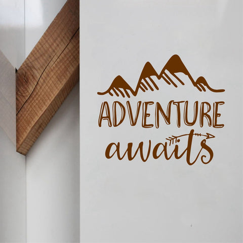 Image of Adventure Awaits Vinyl Wall Decal - T