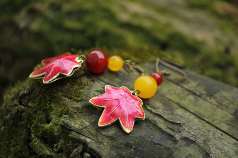 Image of Maple Leaf Earrings - TU