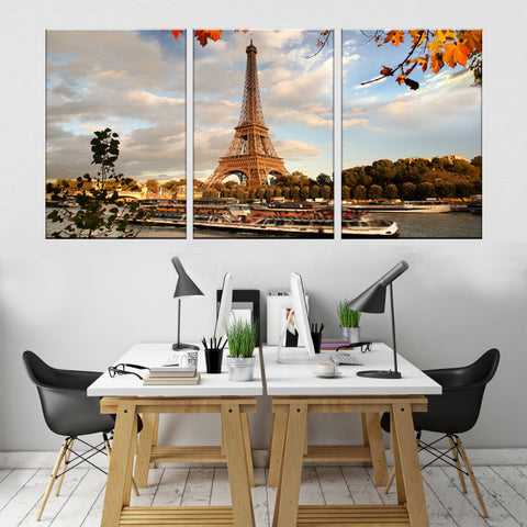 Image of Eiffel Tower Prints Painting Canvas - TU