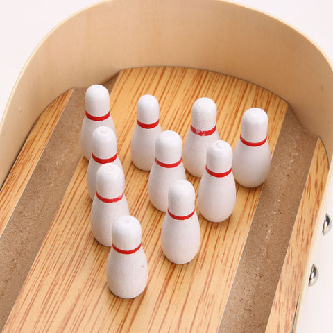 Mini Wooden Bowling Game For Home & Office - Y7