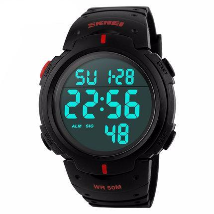 Mens Sports Watches Dive 50m Digital LED - T