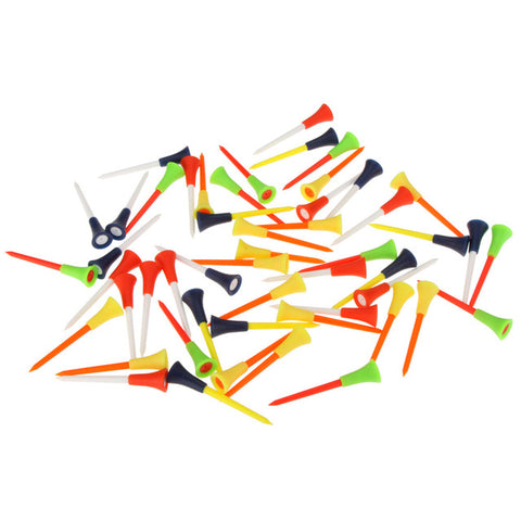 Image of 50 Pcs/bag Multi Color Plastic Golf Tees 83mm - T