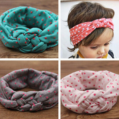 Soft Jewely Girl Kids Cross Turban -T
