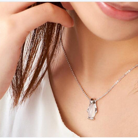 Necklace Penguin Sliver Charms -  S