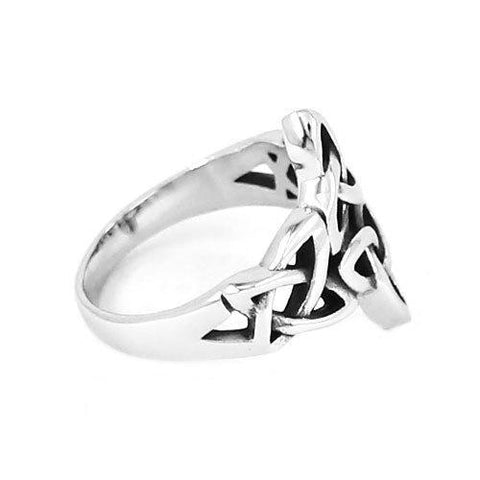 Triple Knot Irish Patter Biker Ring - K