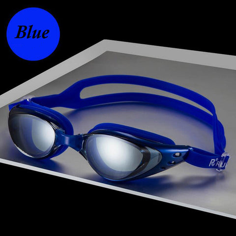 Image of Men Women Swim Glasses Anti Fog UV Protection - T