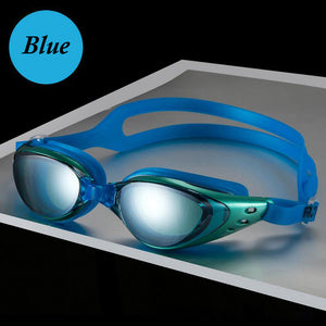 Men Women Swim Glasses Anti Fog UV Protection - T