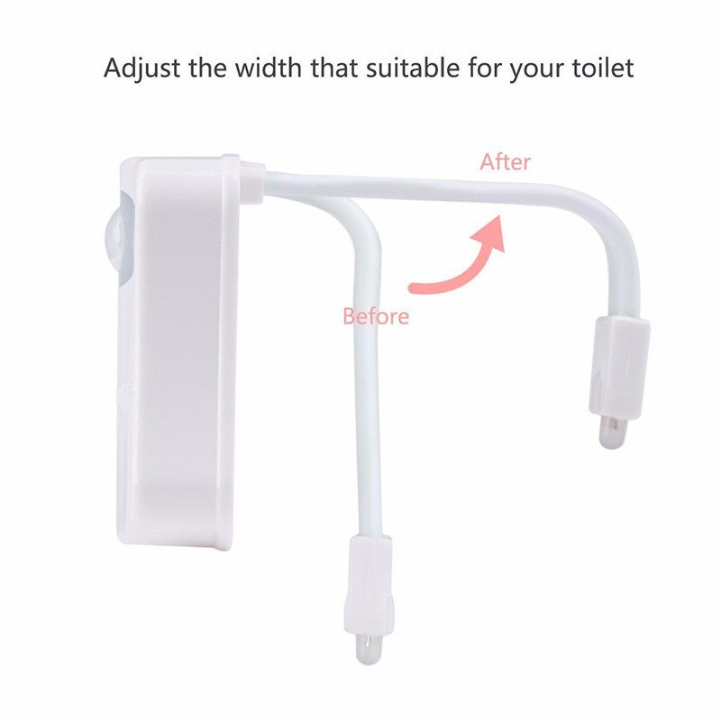 Automatic Toilet Seat LED 8 Color To Change - K