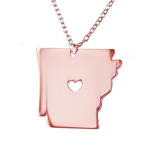 Image of Arkansas US State Map Necklaces