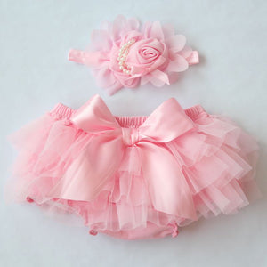 Cotton Ruffle Bloomers Dress Baby's -T