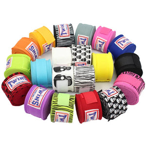 2pcs/pack 5M Cotton Kick Boxing Bandage Wrist Straps Sports - T