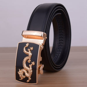 Leather Belt With Dragon - TR