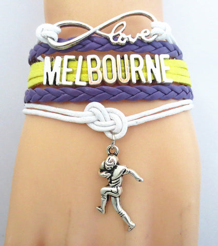 Image of AUSTRALIA Love MELBOURNE football Team sport Bracelet - Y7