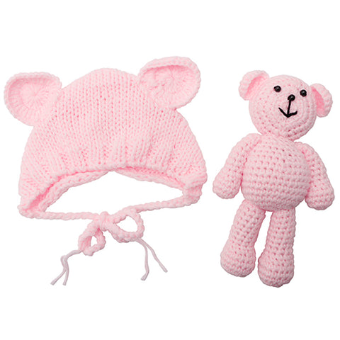 Image of Baby Crochet Bear & Hat Set - L
