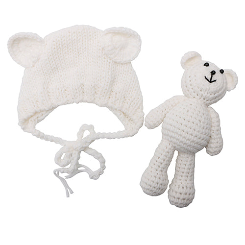 Baby Crochet Bear & Hat Set - L