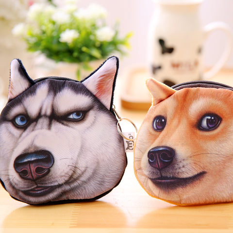 Image of Husky Akitas Dog Personality Small Bag - S