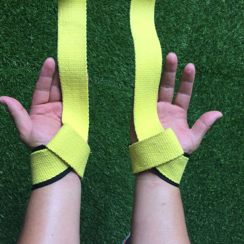 1Pair Weight Lifting Strap Hand Wrist Bar Support - T