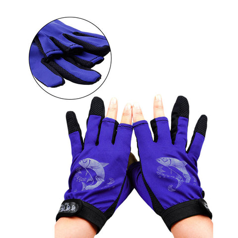 1Pair Waterproof 3 Cut Finger Anti-slip Non-Slip - T
