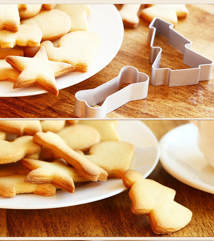 10Pcs/lot Aluminum Alloy Multi Shape Cookie - T