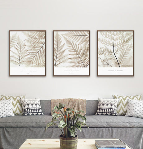 Silver Fern Canvas Home Decor - TR