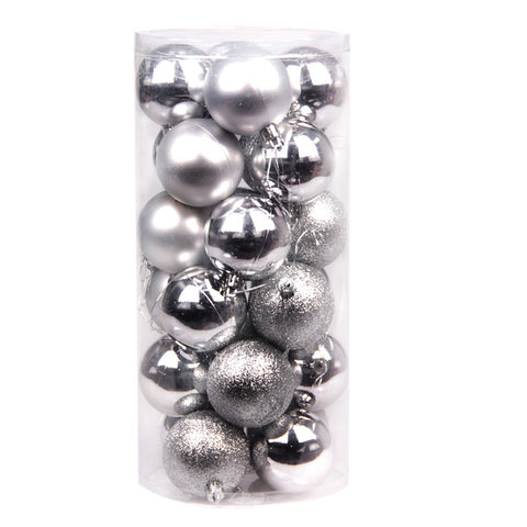 Image of 24 PCS 4cm Modern Christmas Tree Ball - T