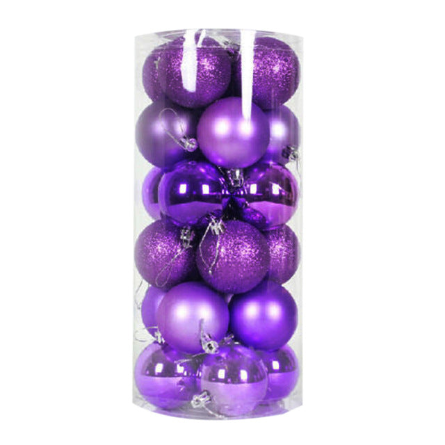 24 PCS 4cm Modern Christmas Tree Ball - T