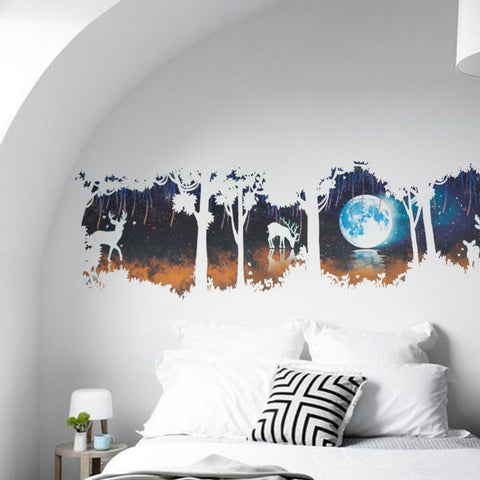 Image of Forest Under Moon Wall Stickers - TU