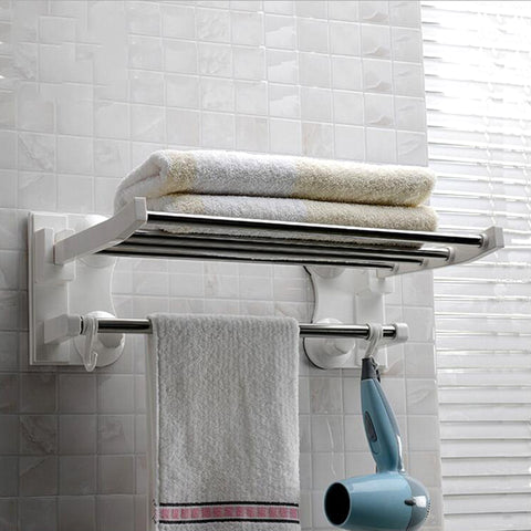 Image of 40cm Long Suction Cup Towel Bars Stainless Steel-TR