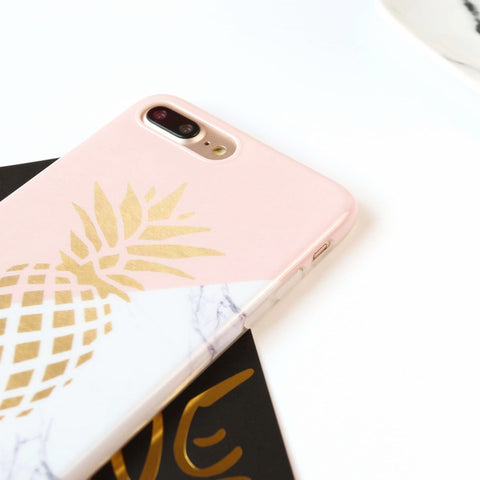 Marble Pineapple Phone Cases For iPhone - TU