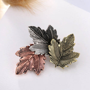 Maple Leaf Brooches Pins - K