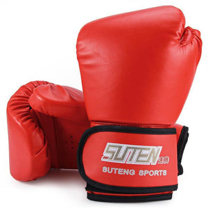 Leather Boxing Kick boxing Gloves 3 Color - T