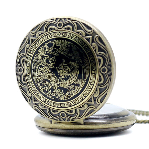 Luxury Watches Dragon And Phoenix Pocket Watch - TR