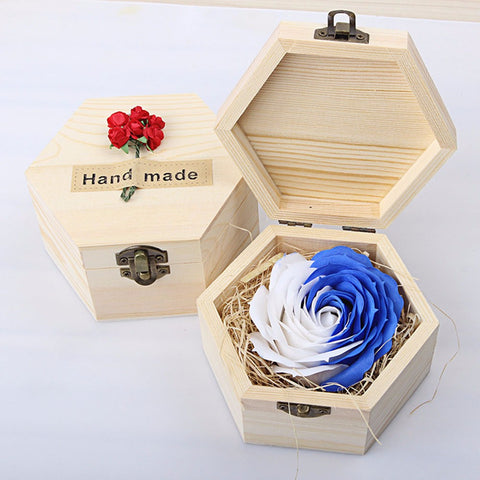 Wooden Box Rose Flower Soap - Valentine Special Collection