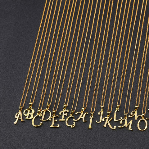 Image of A-Z Letter Necklace - K