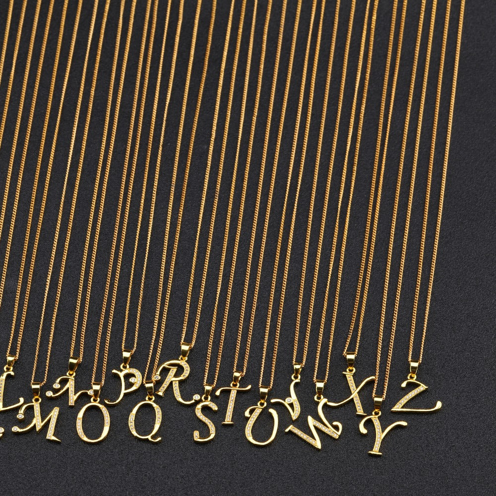 A-Z Letter Necklace - K