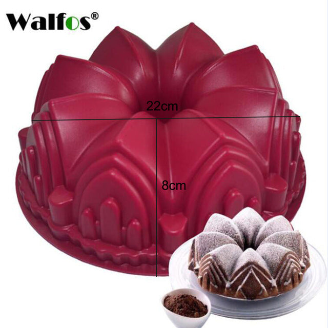 3D Handmade Round Shape Silicone Cake Mold-TR