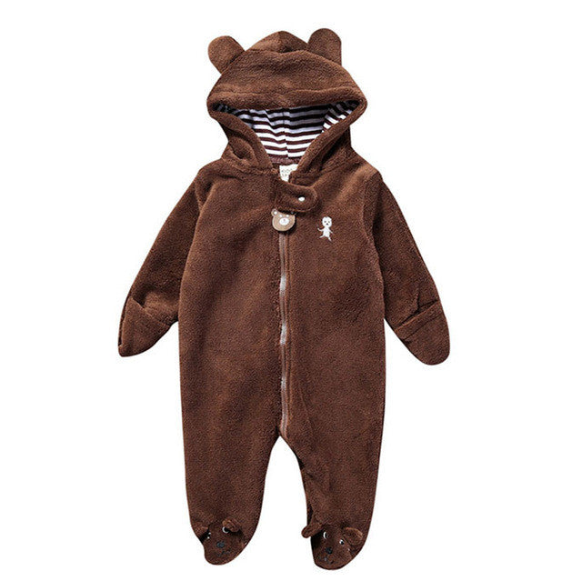 Bear Hoodie Jumpsuit  for Baby - L