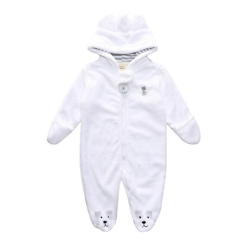 Image of Bear Hoodie Jumpsuit  for Baby - L