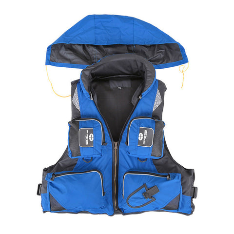 Fishing Life Jacket Polyester Outdoor Safety Life Vest For Boat - T