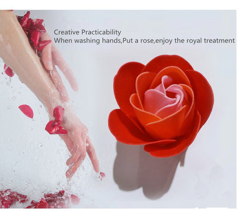 100Pcs Scented Roses Bath Soap - Valentine Special Collection