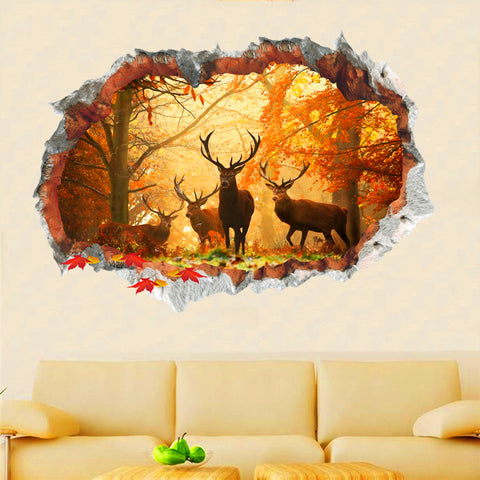 Image of Maple Forest Wall Stickers - TU