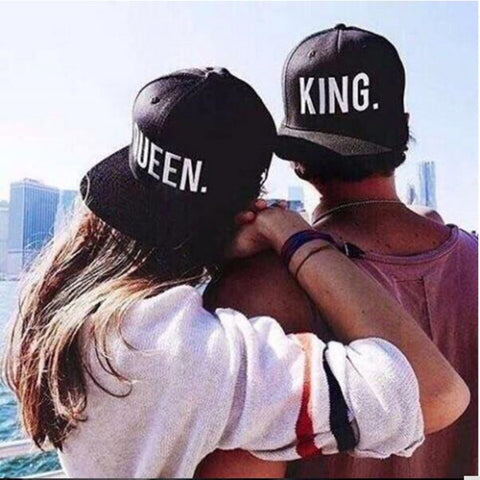 King And Queen Couple Caps - M